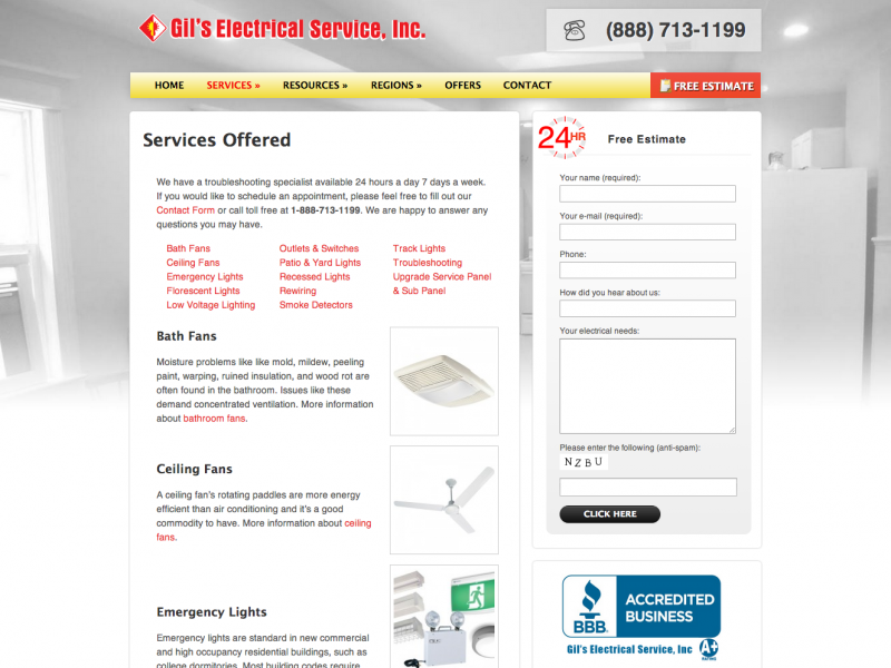 Electrical Services   Gil's Electrical Service, Inc.
