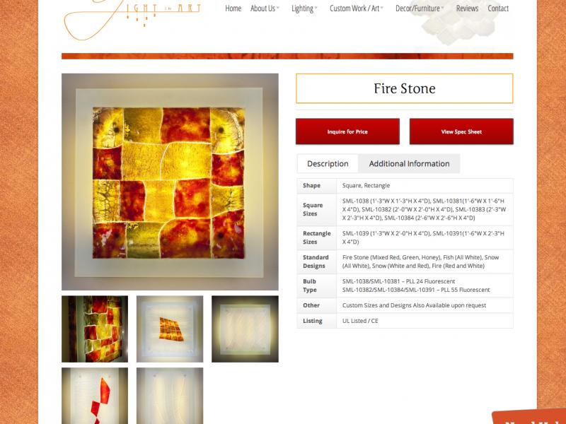 Fire Stone   Light In Art
