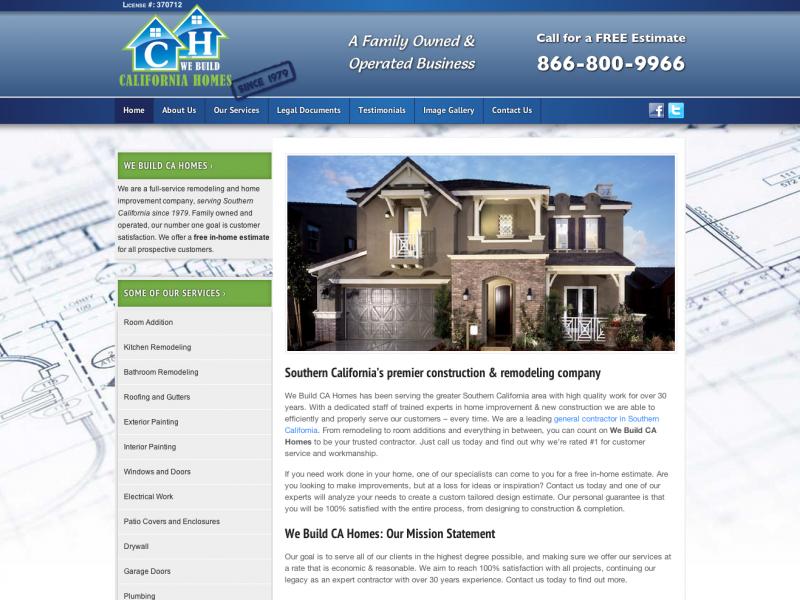 We Build CA Homes