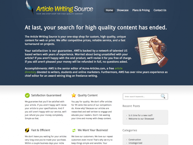Article Writing Source - Blog Writing   Article Writing Service