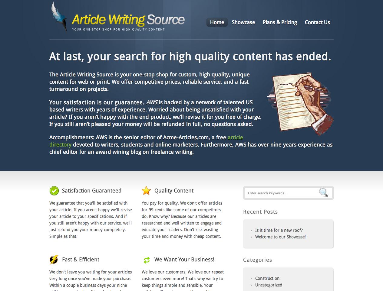 article writing service seorj